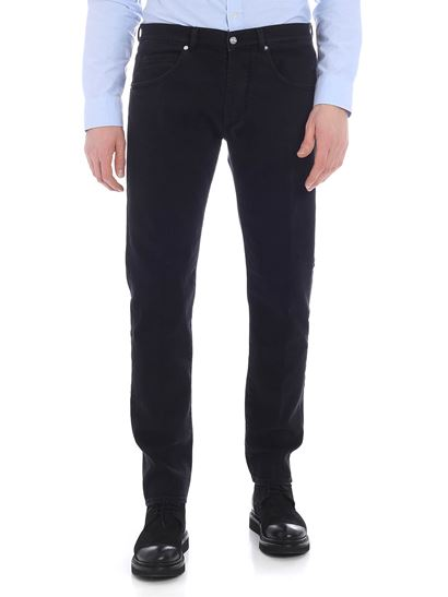 Nine in the morning - Rock jeans in black cotton