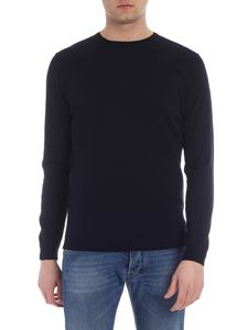 Roberto Collina - Navy blue crew neck pullover