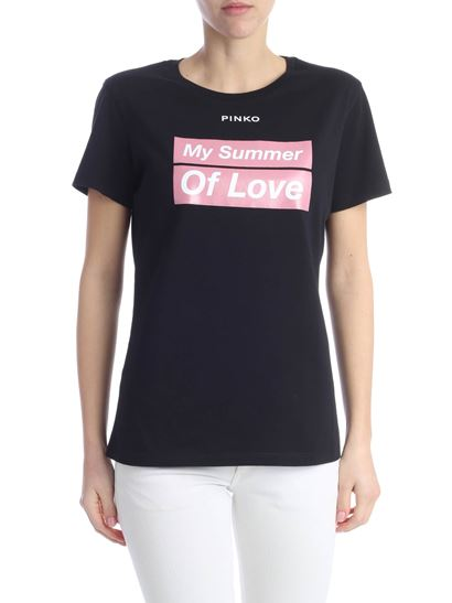 Pinko - Spontaneo Addicted to Love T-shirt in black