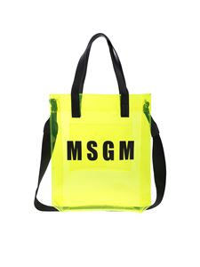 MSGM - Neon yellow shoulder bag