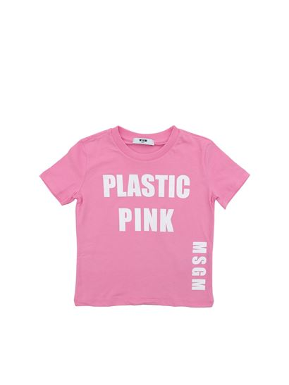 MSGM - Pink t-shirt with white prints