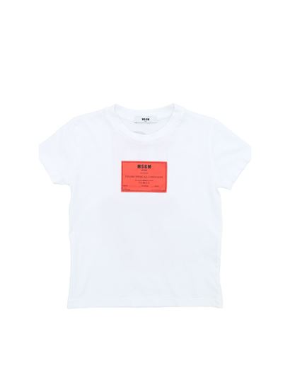 MSGM - White t-shirt with red detail