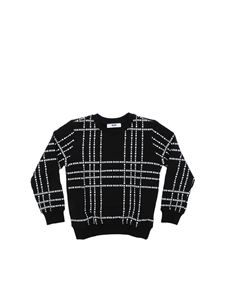 MSGM - Black sweatshirt with white logo prints