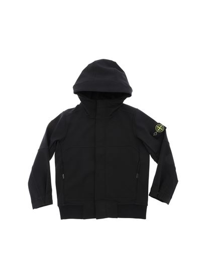 Stone Island Junior - Black jacket with removable logo