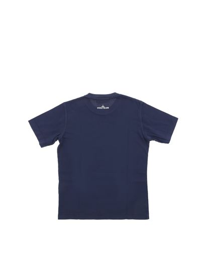 Stone Island Junior - Blue t-shirt with gradient logo
