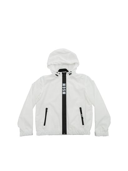 MSGM - White jacket with heat-sealed zip