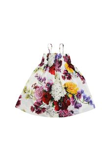 Dolce & Gabbana Jr - White floral printed dress