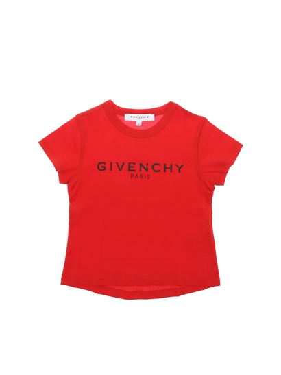 12c4186009ed8 Givenchy Spring Summer 2019 red t-shirt with black vintage logo ...