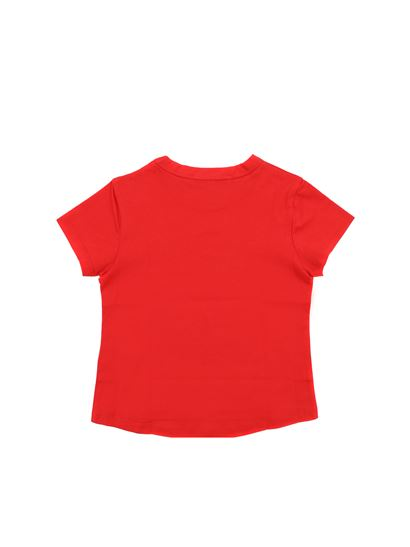 Givenchy - Red t-shirt with black vintage logo
