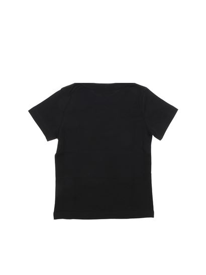 Givenchy - Black t-shirt with white vintage logo