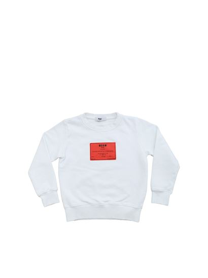 MSGM - White sweatshirt with 1977 print