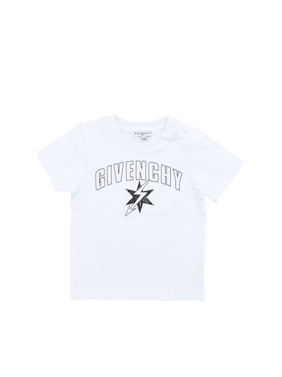 Givenchy - White crew-neck t-shirt with black logo