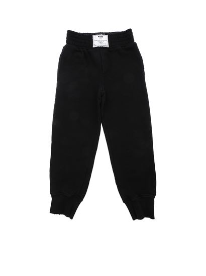 MSGM - Black trousers with worn-out details