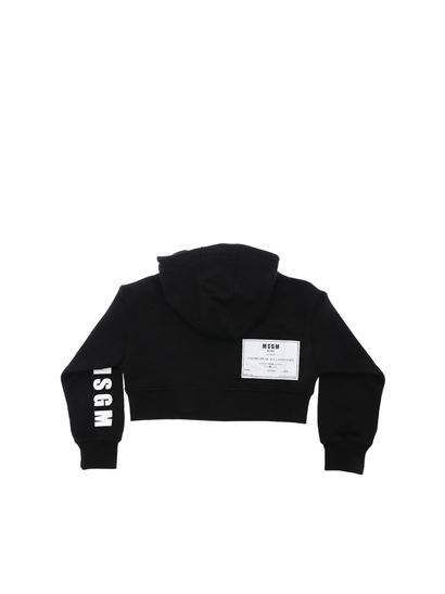 MSGM - Black sweatshirt with Deepest Black print