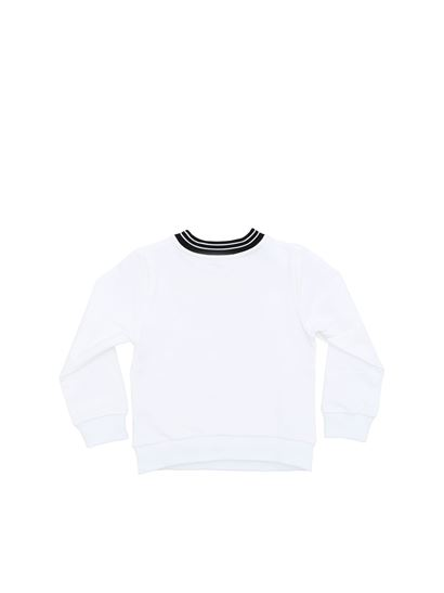Givenchy - White sweatshirt with black vintage effect logo