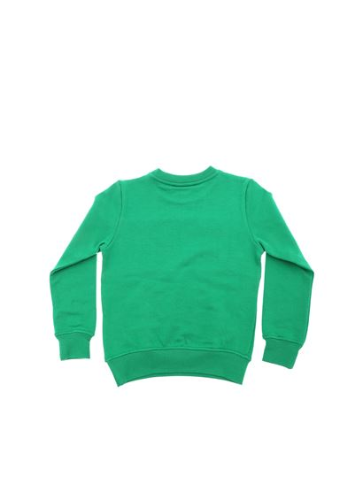 MSGM - Green sweatshirt with embroidered logo