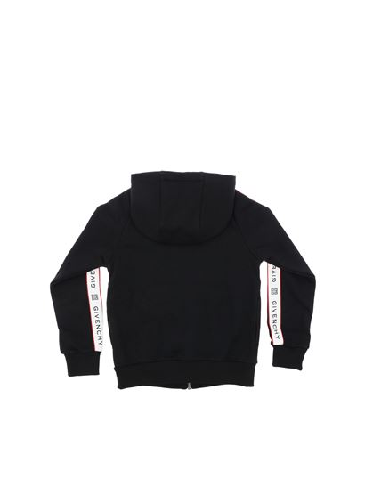 Givenchy - Black sweatshirt with white stripes
