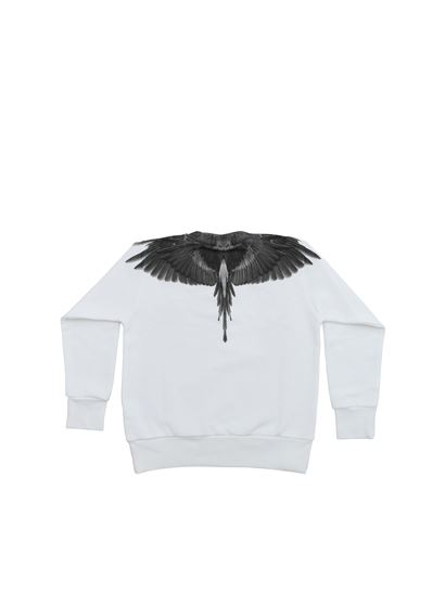Marcelo Burlon Kids - Black Wings white sweatshirt