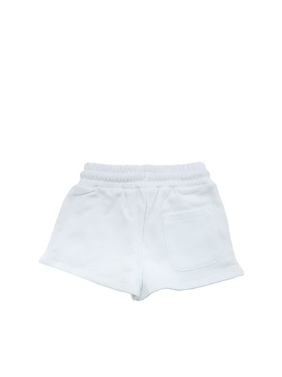 MSGM - White shorts with embroidered logo