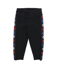 Marcelo Burlon - Black basketball leggings with branded stripes