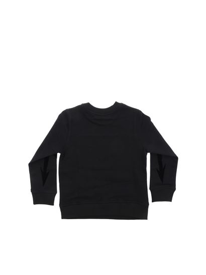 Givenchy - Black sweatshirt with white rubber logo