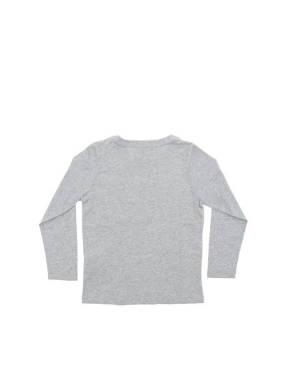 Givenchy - Gray long-sleeved T-shirt with logo