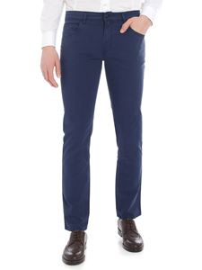 Fay - Blue trousers in cotton canvas
