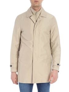 Fay - Beige overcoat in technical fabric