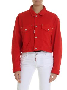 Dsquared2 - Boxy jacket in red denim