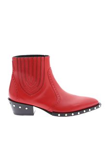 Ermanno Scervino - Red ankle boots in genuine leather