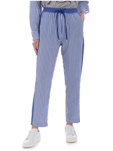 Love Moschino - Striped white and blue trousers