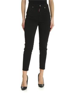 Dsquared2 - Black jeans with metal logo