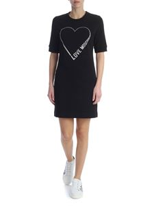 Love Moschino - Black dress with logo and heart