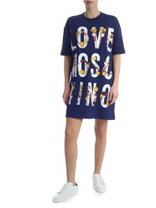 Love Moschino - Blue dress with logo