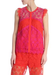 Pinko - Campione fuchsia and coral red top