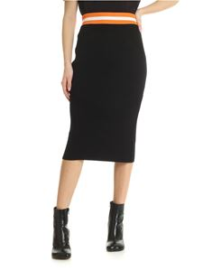 Calvin Klein - Ribbed knitted black longuette