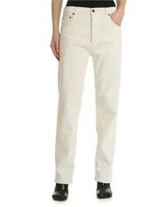 6397 - Ivory-white jeans with 5 pockets