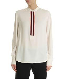 Calvin Klein - Blouse in ivory-colored technical fabric
