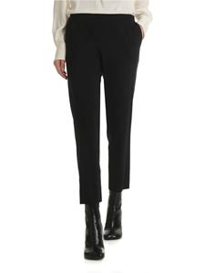 6397 - Black trousers in fresh wool