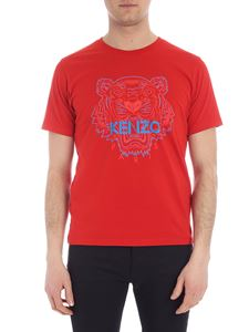 Kenzo - Red Bicolor Tiger T-shirt
