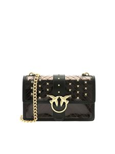 Pinko - Black Love Plastic bag