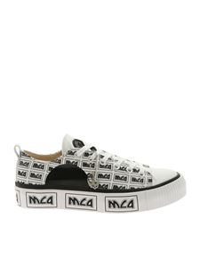 McQ Alexander Mcqueen - Plimsoll Platform sneakers black and white