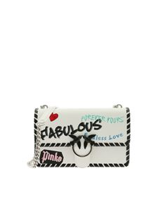 Pinko - Love Fabulous white shoulder bag