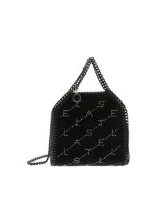 Stella McCartney - Mini Tiny Fallabella bag with black velvet effect