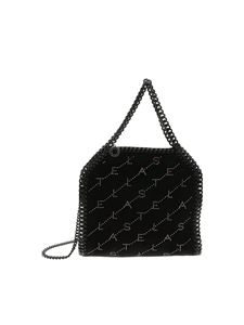 Stella McCartney - Falabella Mini bag with black velvet effect