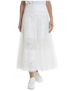 Ermanno Scervino - White skirt in pleated tulle
