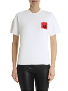 Alexander Wang - White t-shirt with red logo