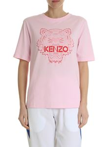 Kenzo - Tiger t-shirt with pink print on front