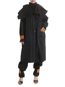 Off-White - K-way Off-White in black technical fabric