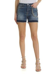 Ermanno Scervino - Blue shorts with metal chain